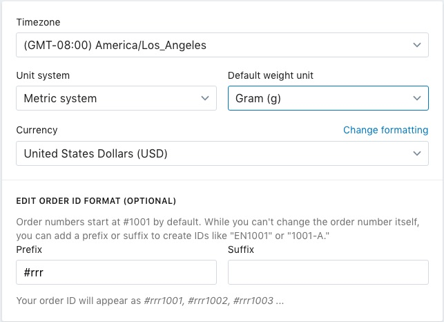 Any Shipping Rates Which You Have Set Up Will Then Be Converted To Metric And Appear As Kilograms Kg