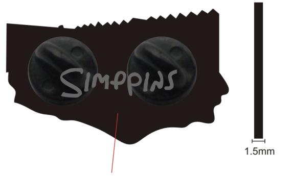 Simpson pins enamel pin