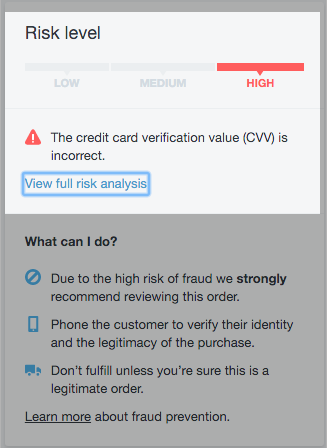 Fraud and accepting credit cards - Shopify Community