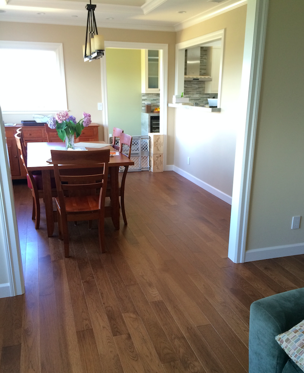 custom hickory flooring with long boards