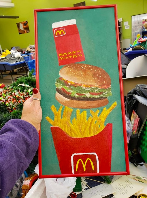 Hand painted McDonalds picture